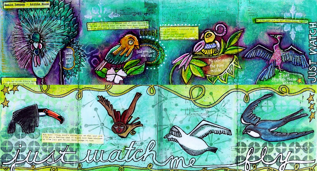 Embracing the Whole Heart: Quirky Birds Mini Book