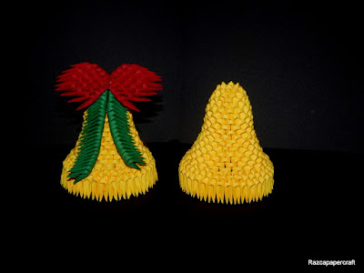 3D origami Christmas bell