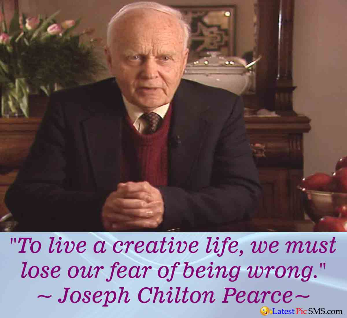 Joseph Chilton Pearce life quotes - Thoughts on Life Images for Whatsapp and Facebook