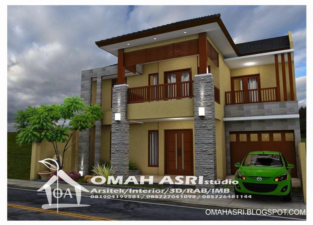 Omah Asri Studio Desain Rumah 2 Lantai Semi Tropis