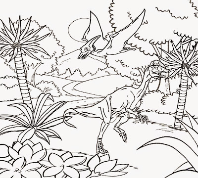 Simple Dinosaur Coloring Pages Free Colorings Net