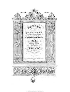 Método completo de clarinete : adoptado para la enseñanza del Real Conservatorio de Música de M.C. y dedicado al mismo por Antonio Romero, caballero de la Rl. Orden de Carlos 3º, profesor de clarinete de la Rl. Capilla de S.M. y del Real Conservatorio de Música y Declamación.