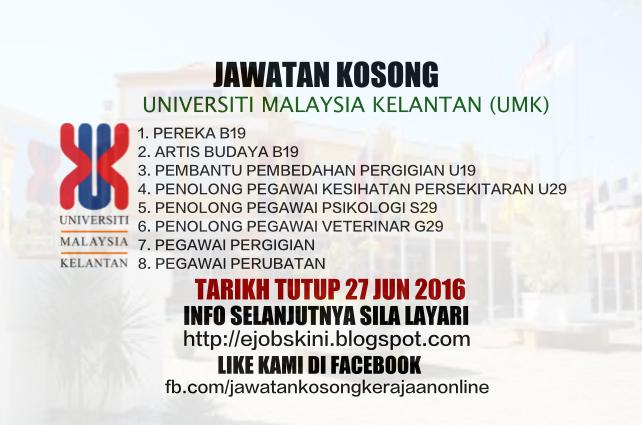 Jawatan Kosong UMK Kelantan