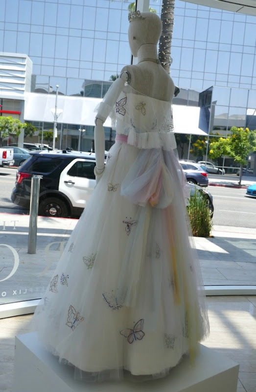 Princess Margaret Birthday Portrait gown back Crown season 2