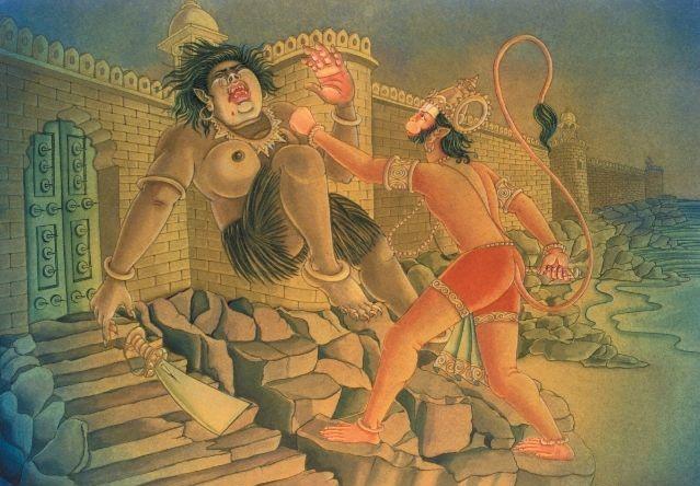 hanuman killing lankini