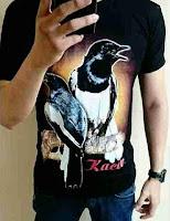 Kaos Gambar Burung Kacer