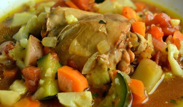 Poulet et ragoût de légumes façon cambodgienne