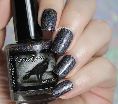 CrowsToes Nail Color Sleep with One Eye Open | Hella Holo Customs September 2016