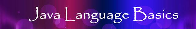 Java Language Basics