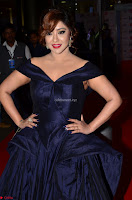 Payal Ghosh aka Harika in Dark Blue Deep Neck Sleeveless Gown at 64th Jio Filmfare Awards South 2017 ~  Exclusive 018.JPG