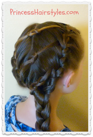 triple knot braided hairstyle