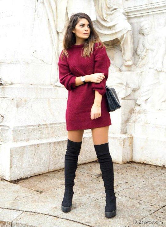 20 Ideas De Botas Altas Con Vestido La Combinación Perfecta