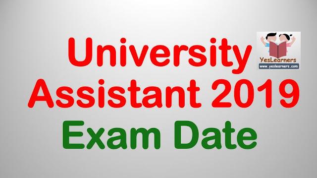 University Assistant 2019 - Exam Date