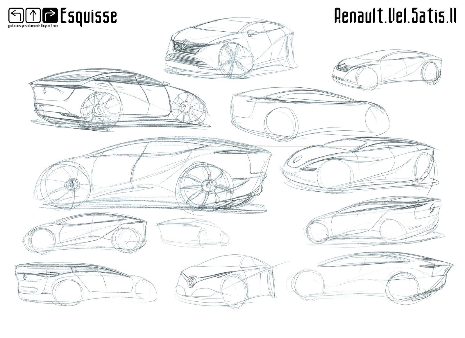 Guillaume AGEZ Automobile: Esquisse : Renault Vel Satis II