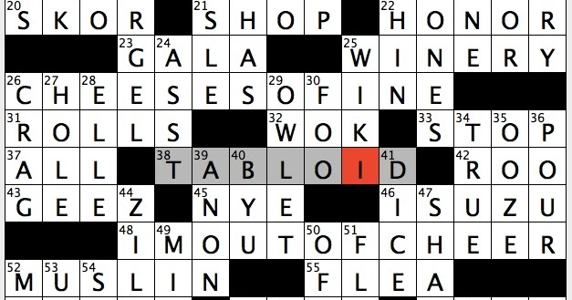 Rex Parker Does the NYT Crossword Puzzle: Cloth made infamous by ...