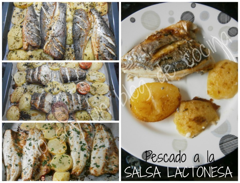 Pescado hecho con salsa lactonesa