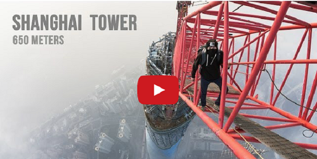 Watch Two Crazy People Climb the World's Second Tallest Building (650m)!