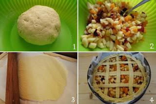 foto preparazione Ricetta torta con frutta mista di stagione per bambini