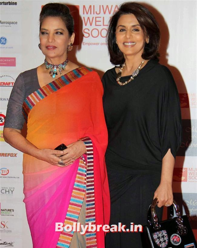 Shabana Azmi and Neetu Singh, Top Bollywood Celebs at Men For Mijwan Charity Fashion Show