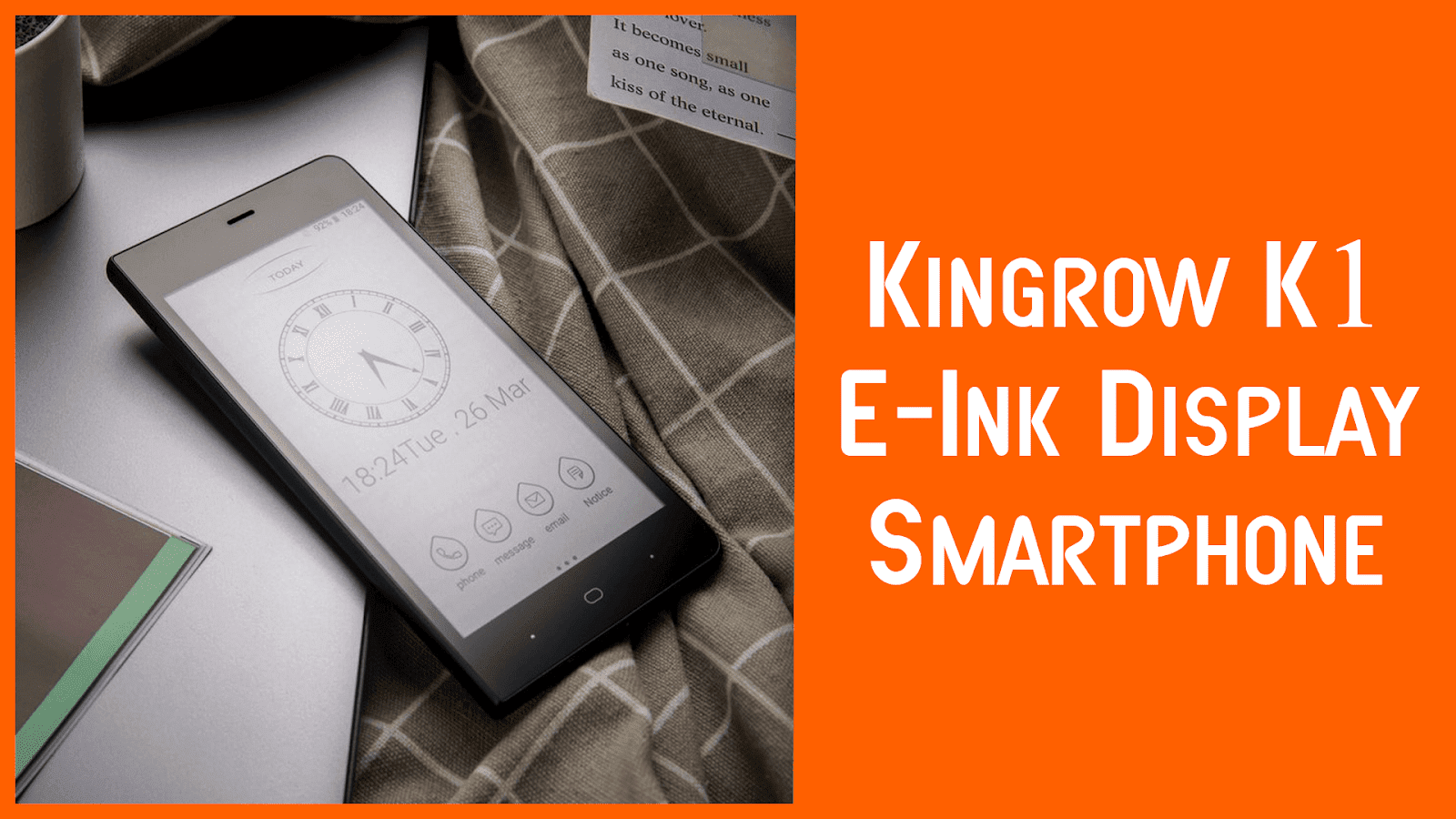 Kingrow K1 Smartphone with E-Ink Display