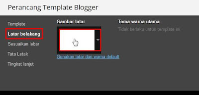 Cara Mengganti Background Blog Dengan Gambar/Foto/HTML
