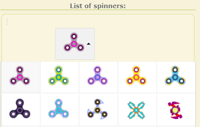 List spinner applikasi