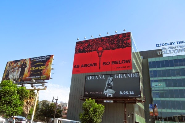 Giant As Above So Below movie billboard