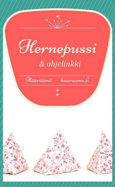 Ohjelinkki: Vaaleanpunainen kukkakuviollinen hernepussi