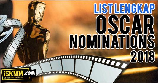 Oscar nominations 2018, List Lengkap Inilah Mereka