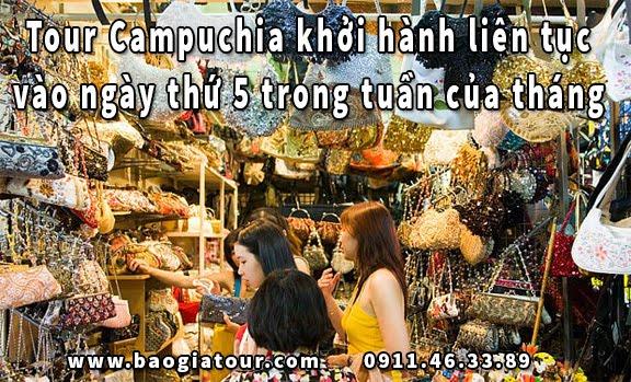 Tour Campuchia khởi hành liên tục vào ngày thứ 5 trong tuần của tháng 3