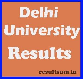 Delhi University Results 2015
