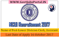 The National Cooperative Union of India Recruitment 2017– Lower Division Clerk, Assistant