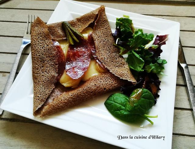 Galette aux accents de la montagne (raclette fever) / Dans la cuisine d'Hilary