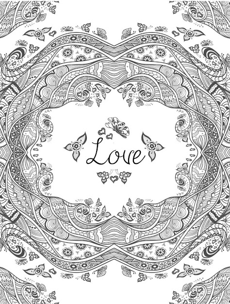 Free Printable Valentines Adult Coloring Pages Page Of Heart Coloring Pages  For Adults Love Coloring Pages For Adults