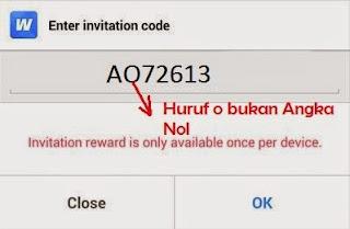 kode invite