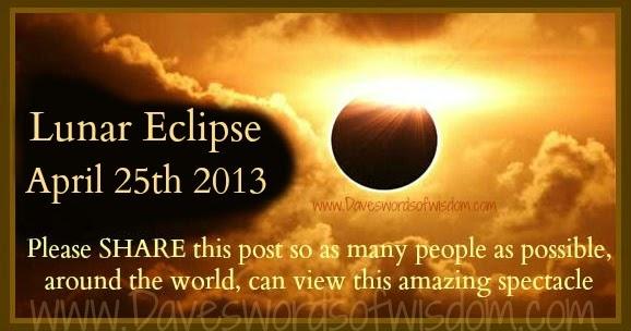 Quotes About The Eclipse: Daveswordsofwisdom.com: Lunar Eclipse