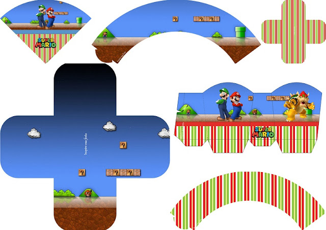 super mario bros party free printables boxes and free