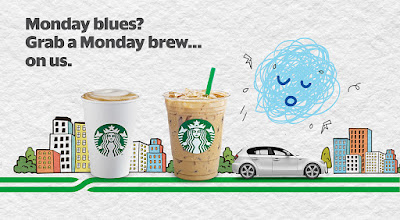 Grab Starbucks Latte Monday Promo