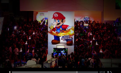 E3 2014 Nintendo booth Mario Super Smash Bros. For Wii U 3DS