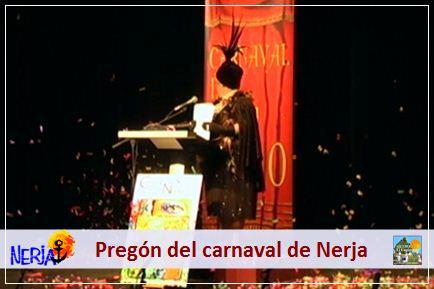 El jueves se celebra el Pregón inaugural del Carnaval de Nerja, en el Centro Cultural Villa de Nerja