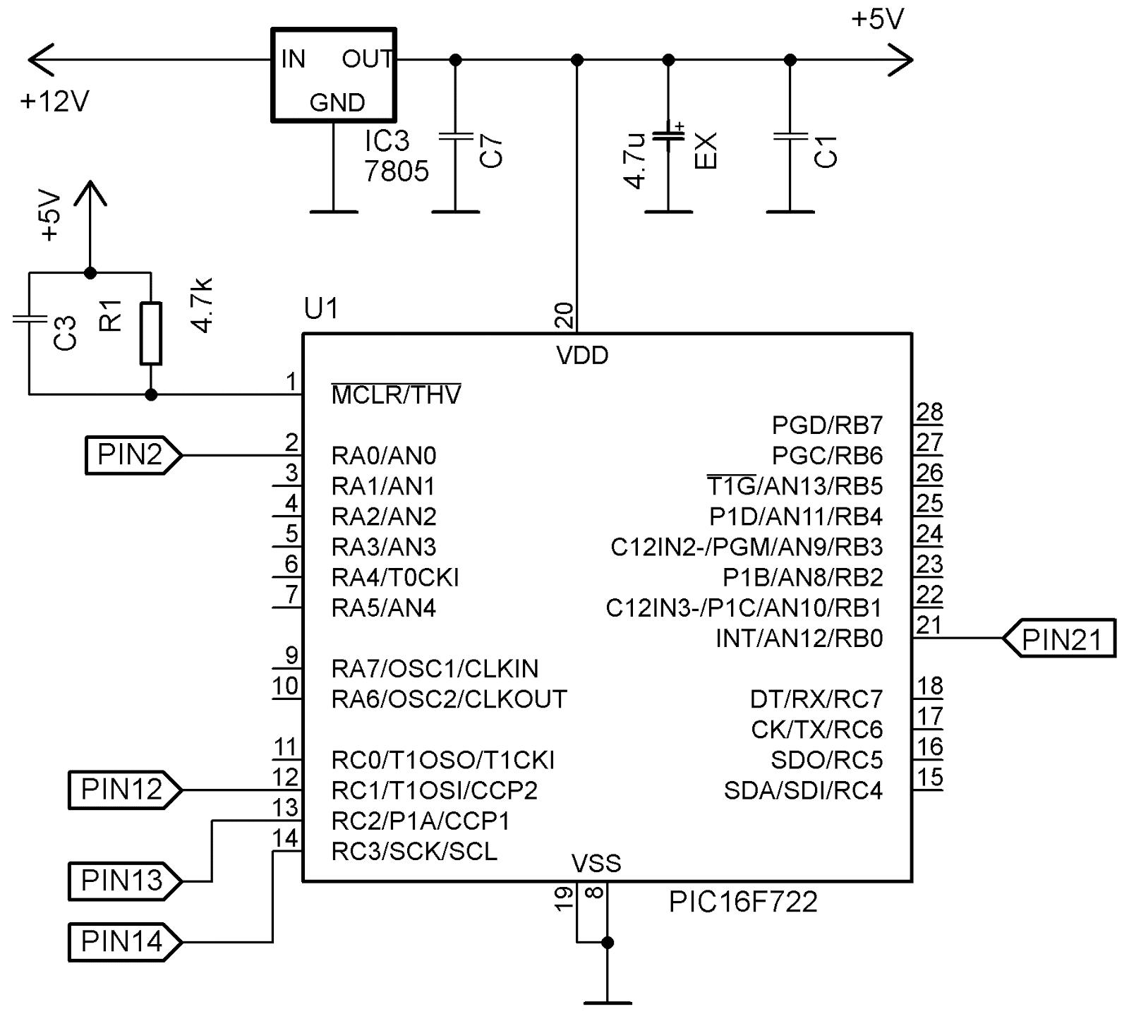 безтрансформаторная схема питания 12 5 вольт