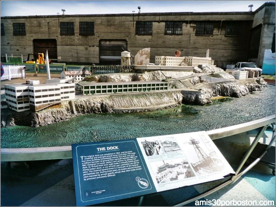 La Prisión de Alcatraz: Maqueta del Puerto
