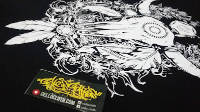 sablon kaos satuan manual rubber