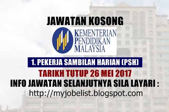 Jawatan Kosong di Kementerian Pendidikan Malaysia ( MOE) Mei 2017