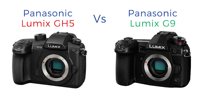 The Panasonic Lumix G9 and GH5 side by side