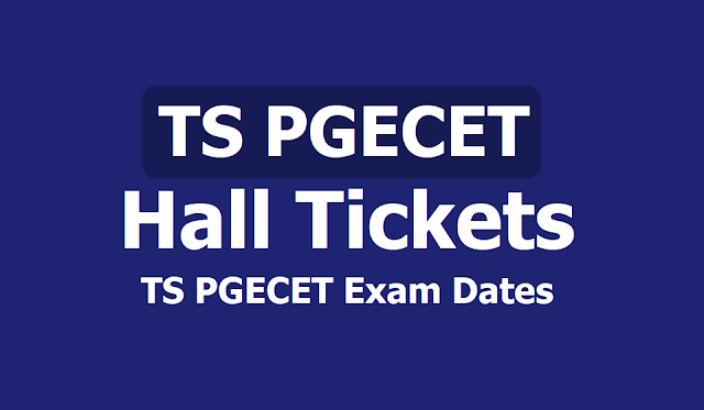 TS PGECET Hall Tickets, Exam dates Schedule 2019