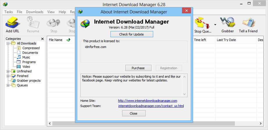FREE IDM REGISTRATION: Internet Download Manager 6.28 ...