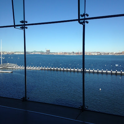 view of Boston Harbor at ICA Boston