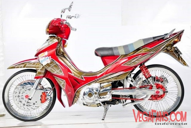 Modifikasi Jupiter Z Merah Modif Airbrush Full Body