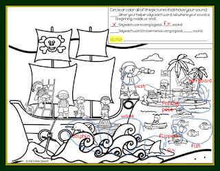 Search and find worksheet in a green and yellow frame